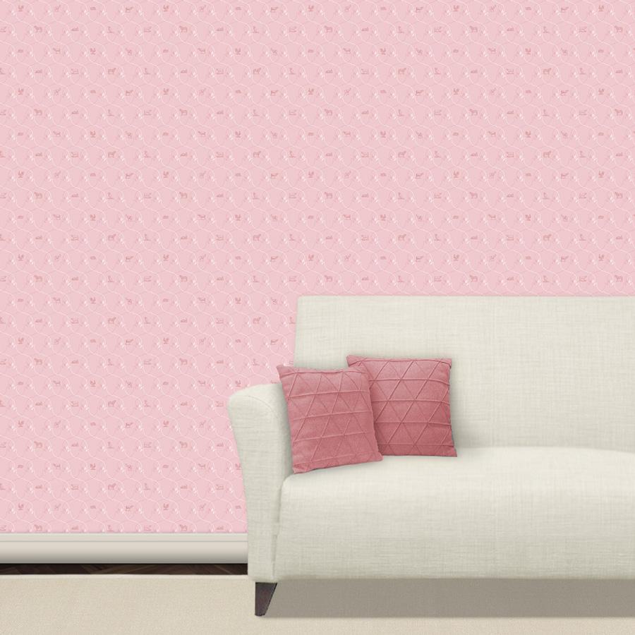 Elegante Haustier Tapete in pink - Gräflich Münster'sche Manufaktur