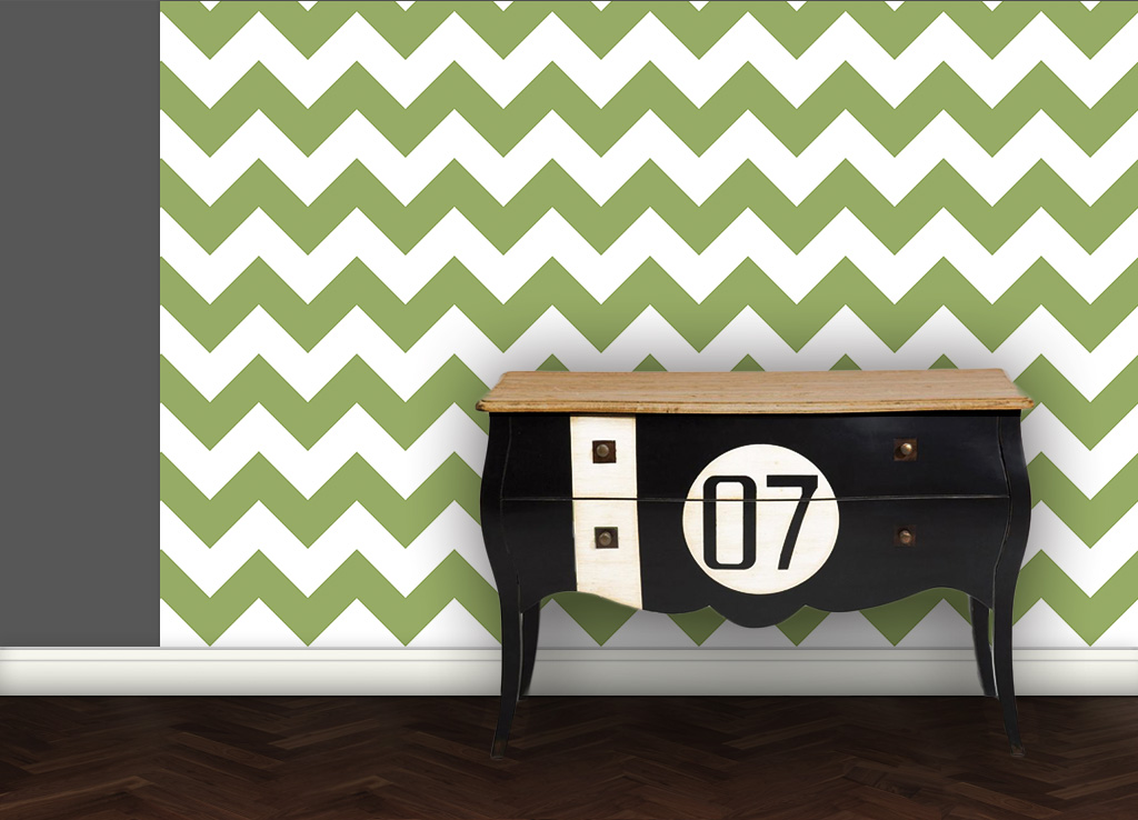 schicke zick zack tapete angepasst an ikea 114 gr flich. Black Bedroom Furniture Sets. Home Design Ideas